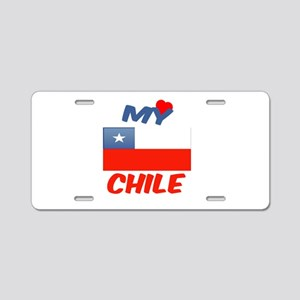 My Love Chile Aluminum License Plate