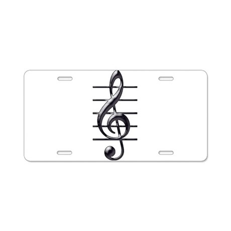 TREBLE CLEF- BLACK CHROME copy Aluminum Licens