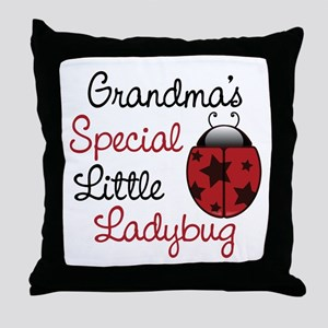 Grandma's Ladybug Throw Pillow