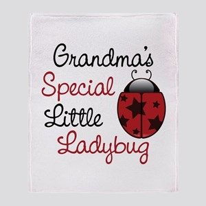 Grandma's Ladybug Throw Blanket
