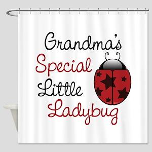 Grandma's Ladybug Shower Curtain