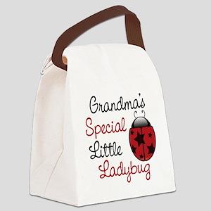 Grandma's Ladybug Canvas Lunch Bag