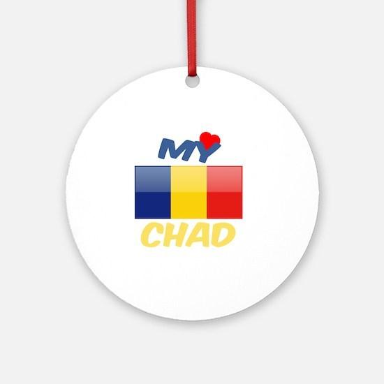 My Love Chad Round Ornament
