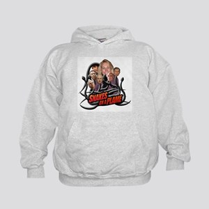 SNAKES ON A PLAME Kids Hoodie