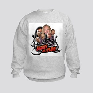 SNAKES ON A PLAME Kids Sweatshirt
