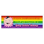 Fight Homophobia Bumper Sticker