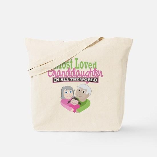 Most Loved Granddaughter Tote Bag