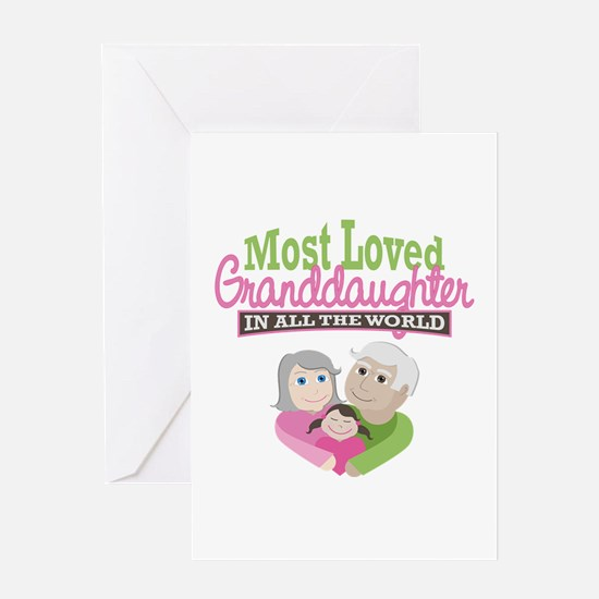 Most Loved Granddaughter Greeting Card