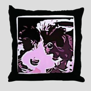 oreo the pup Throw Pillow