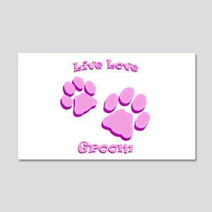 Live Love Groom 20x12 Wall Decal
