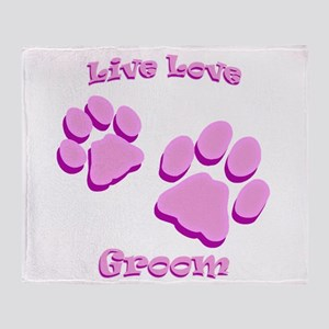 Live Love Groom Throw Blanket