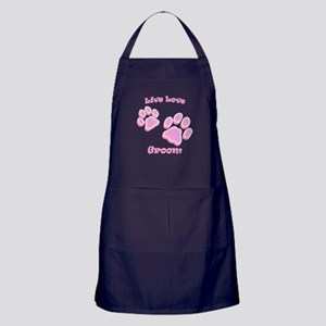 Live Love Groom Apron (dark)