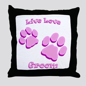 Live Love Groom Throw Pillow