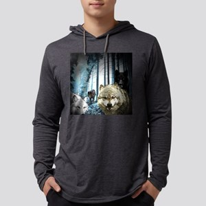 PACK OF WOLVES Mens Hooded Shirt