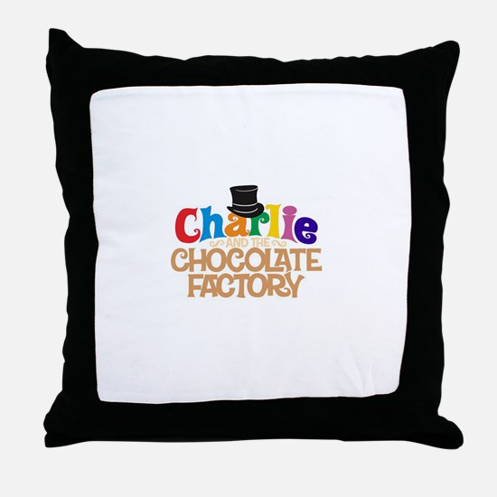 charlie and the chocholate factory Throw Pillow