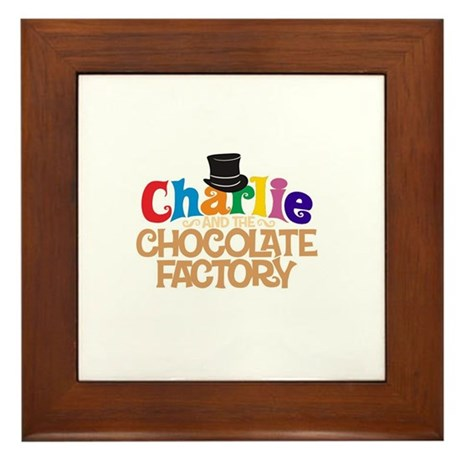 charlie and the chocholate factory Framed Tile