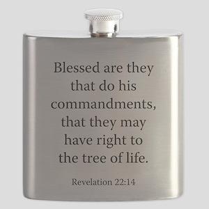 Revelation 22:14 Flask