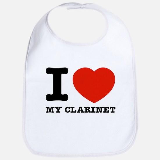 I Love My Clarinet Bib