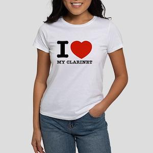 I Love My Clarinet Women's T-Shirt