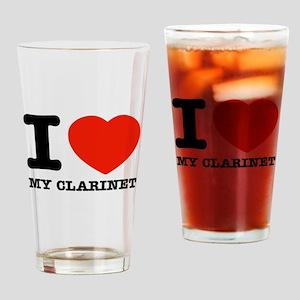 I Love My Clarinet Drinking Glass