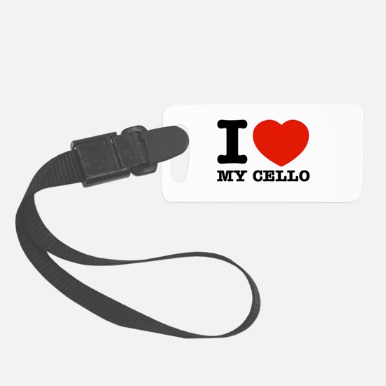 I Love My Cello Luggage Tag