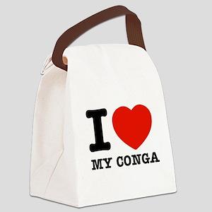 I Love My Conga Canvas Lunch Bag