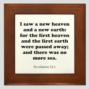 Revelation 21:1 Framed Tile