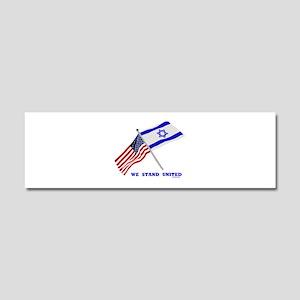 Us Israel United Car Magnet 10 X 3