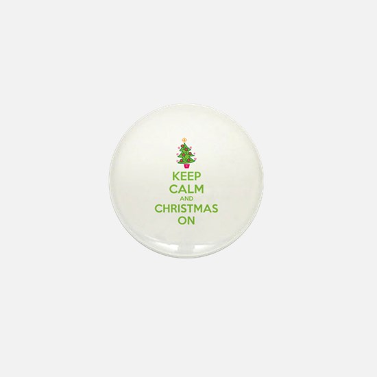 Keep calm and christmas on Mini Button (100 pack)