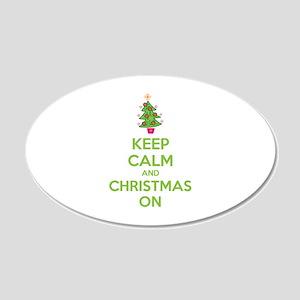 Keep calm and christmas on 22x14 Oval Wall Peel