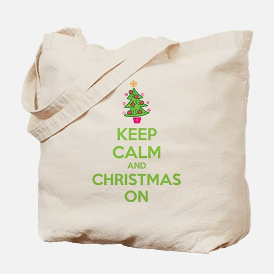 Keep calm and christmas on Tote Bag