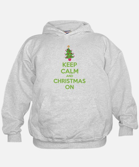Keep calm and christmas on Hoodie
