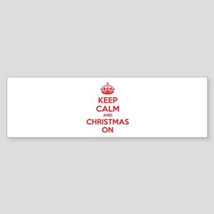 Keep calm and christmas on Sticker (Bumper)