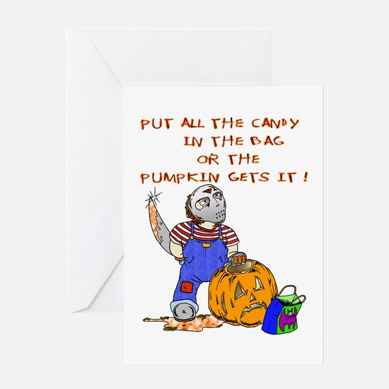 Candy or the Pumpkin Greeting Card
