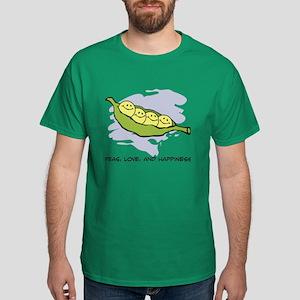 Peas, Love and Happiness Dark T-Shirt
