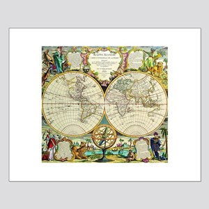 Vintage World Map Small Poster