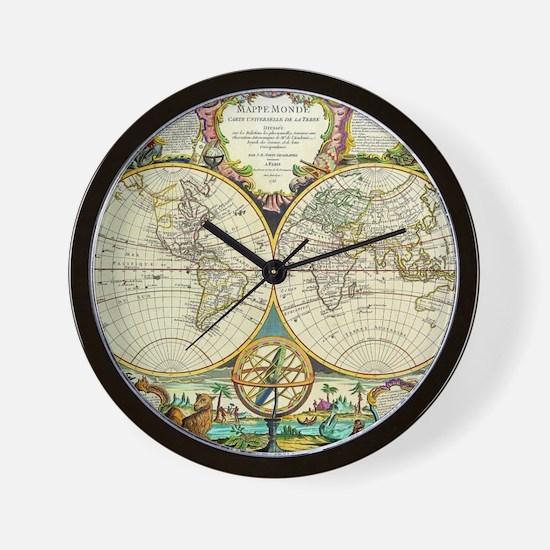 World map clocks world map wall clocks large modern kitchen vintage world map wall clock gumiabroncs Image collections