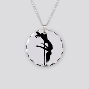 pole dancer 3 Necklace Circle Charm