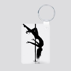 pole dancer 3 Aluminum Photo Keychain