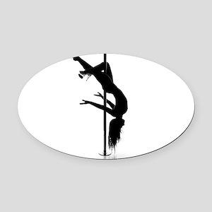 pole dancer 3 Oval Car Magnet