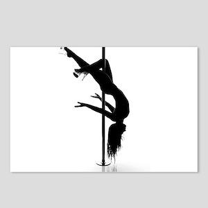 pole dancer 3 Postcards (Package of 8)