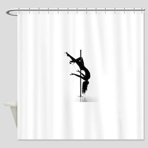 pole dancer 3 Shower Curtain