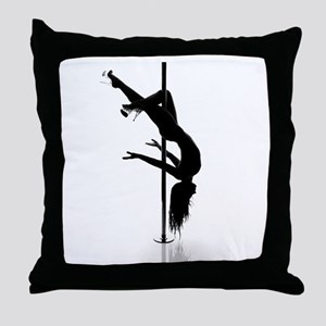 pole dancer 3 Throw Pillow