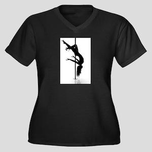 pole dancer 3 Women's Plus Size V-Neck Dark T-Shir
