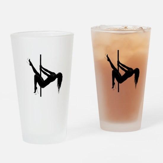 pole dancer 4 Drinking Glass