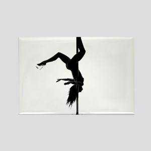 pole dancer 5 Rectangle Magnet