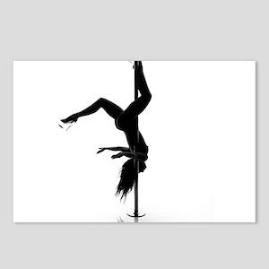 pole dancer 5 Postcards (Package of 8)