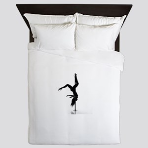 pole dancer 5 Queen Duvet