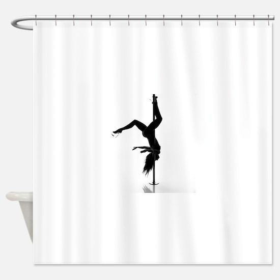pole dancer 5 Shower Curtain