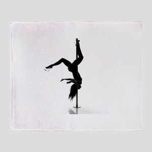 pole dancer 5 Throw Blanket